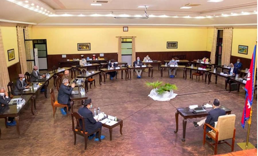 नेकपा बैठकलगत्तै बालुवाटारमा मन्त्रिपरिषद् बैठक सुरु